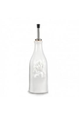 Bouteille vinaigre en porcelaine blanche