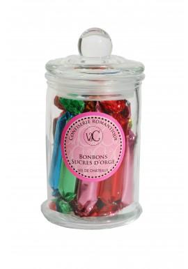 """Bonbons à l'Ancienne en bonbonnière de verre - Sucre d""""Orges"""