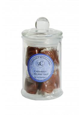 Bonbons à l'Ancienne en bonbonnière de verre - Caramels au beurre salé