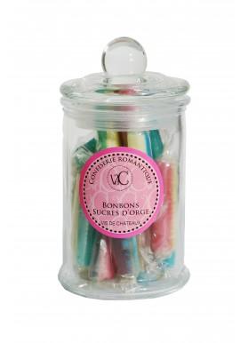 Bonbons à l'Ancienne en bonbonnière de verre - Petits pois lardons