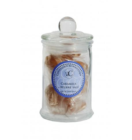 Bonbons à l'Ancienne en bonbonnière de verre -Coques fourrées au Caramel
