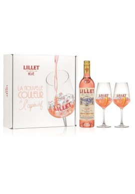 Coffret Lillet rosé 0,7L + 2 verres