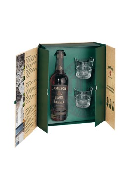 Coffret Jameson Balck Barrel  0,7L + 2 verres