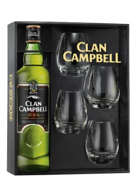 Coffret Clan campbell 0.7 L +  4 verres