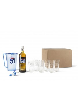 Kit Pastis 51 6 + verres + 1 carafe + 1 bec verseur 70 cl