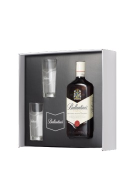 Coffret Ballantine's scotch whisky bouteille 0.7 L + 2 verres