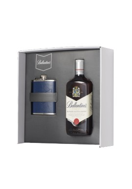 Coffret Ballantine's scotch whisky bouteille 0.7 L + Flasque